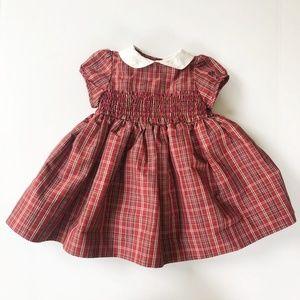 Baby Gap Plaid Taffeta Formal Dress